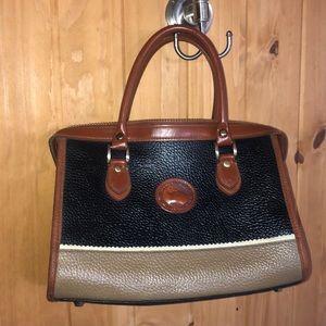 Vtg Sml Dooney & Bourke AllWeatherLeather Handbag